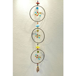 Triple Glass Fish Hand Blown Glass Wind Chime (India)