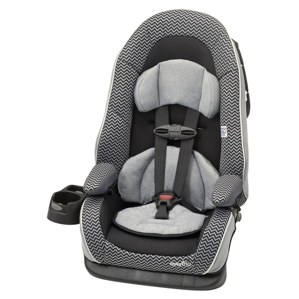 evenflo chase lx booster car seat in grey chevron 16152418 shopping big. Black Bedroom Furniture Sets. Home Design Ideas