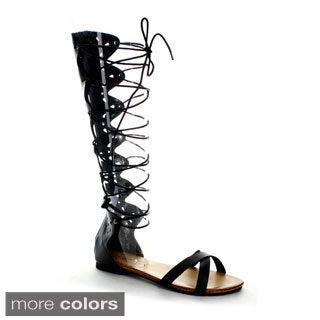 Refresh Women's ONGEE-07 Lace Up Gladiator Sandals