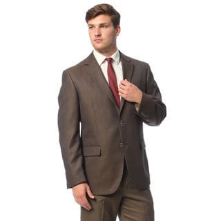 Geoffrey Beene Men's Brown Check Sportcoat