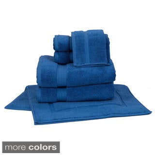 Zero Twist Super Absorbent 8-piece Towel Set with Bath Mats