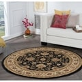 Rhythm 105143 Black Traditional Area Rug (7' 10 Round)
