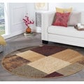 Rhythm 105210 Multi Contemporary Area Rug (7'10 Round)