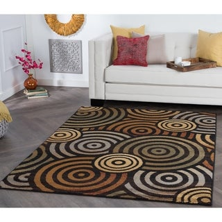 Rhythm 105360 Multi Contemporary Area Rug (9'3 x 12'6)