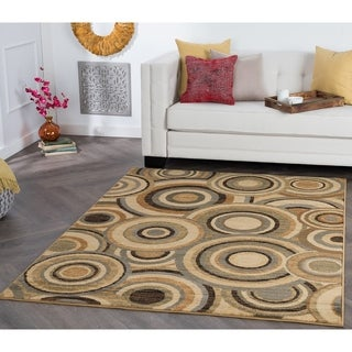 Rhythm 105382 Multi Contemporary Area Rug (9' 3 x 12' 6)