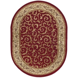 Rhythm 105400 Oval Transitional Area Rug (5'3 x 7'3 Oval)