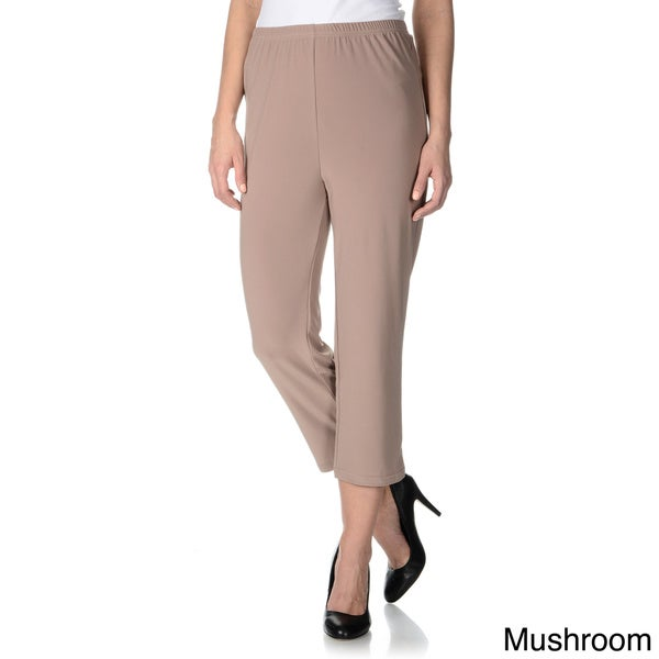Lennie for Nina Leonard Women's Cropped Pull-on Dress Pants