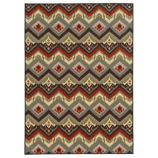 Geometric Tribal Multi Nylon Rug (3'3 x 5'5)