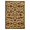 Traditional Floral Beige/ Tan Rug (3'3 x 5'5)
