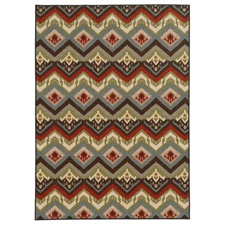 Geometric Tribal Multi Nylon Rug (5'3 x 7'3)