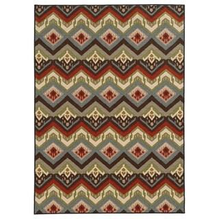 Geometric Tribal Multi Nylon Rug (6'7 x 9'3)