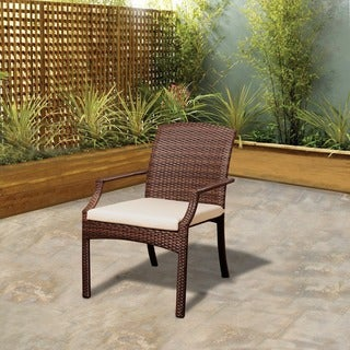 Atlantic Jersey Brown Wicker Stacking Armchair (Set of 4)