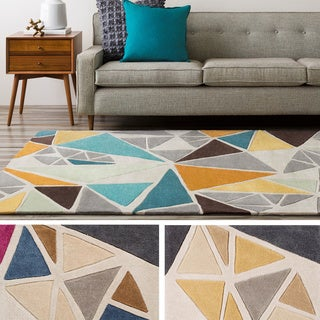 Hand-Tufted Barton Contemporary Abstract Area Rug-(5' x 8')
