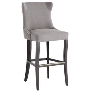 Sunpan Barbuda Grey Linen Bar Stool