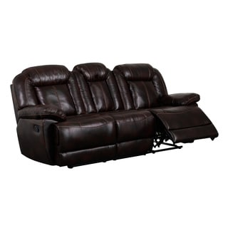 Brown Double Recliner Sofa