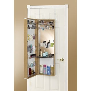 Over-the-Door Mirror Makeup Vanity Armoire