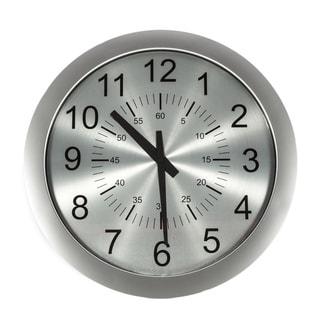Telechron Slim Silvertone Clock