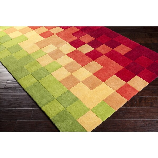 Hand-Tufted Dryden Contemporary Geometric Area Rug-(2' x 3')