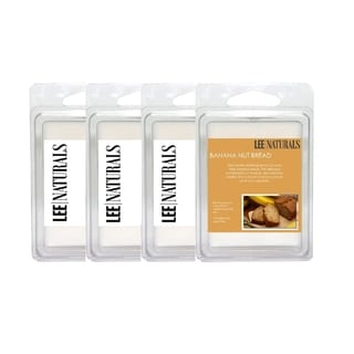 Banana Nut Bread 6-piece Soy Clamshell Tart Burner Melts (Pack of 4)