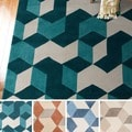 Hand-Tufted Beecher Contemporary Geometric Area Rug-(2' x 3')