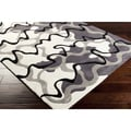 Hand-Tufted Dafter Contemporary Abstract Area Rug-(3'6 x 5'6)