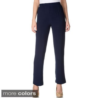 Lennie for Nina Leonard Women's Thick Waist Band Pull-on Dress Pants