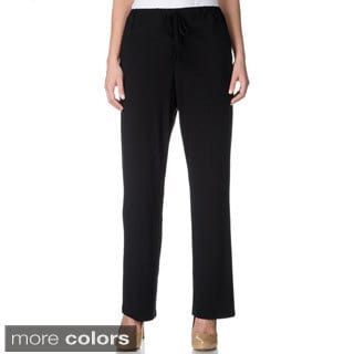 Lennie for Nina Leonard Women's Drawstring Pull-on Dress Pants
