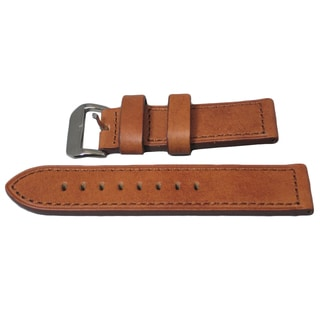 Hadley Roma Panerai Style Genuine Leather Watch Strap with Hand Stitched Trim