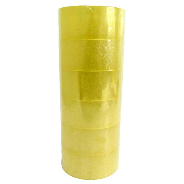 Clear Quality Moving & Storage Packaging Tape 2 mil Thick Box Carton Sealing Tape 2-inch x 110 Yards (6 Rolls)