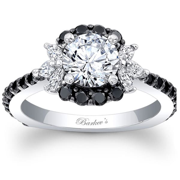 Barkev s Designer 14k White Gold 1 1 2ct TDW Black and White Diamond Enga