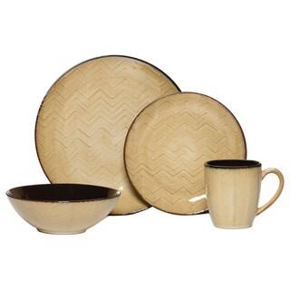 Mikasa Gourmet Basics Ridgewood Taupe 16-piece Dinnerware Set
