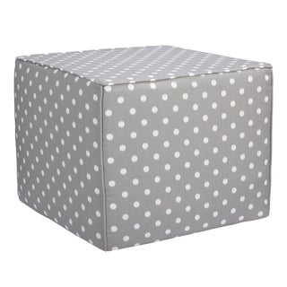 Brooklyn Grey Dots 22-inch Square Indoor/ Outdoor Ottoman