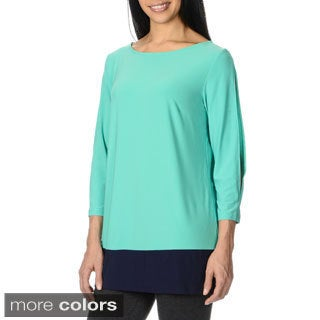 Lennie for Nina Leonard Women's Cold Shoulder Tunic