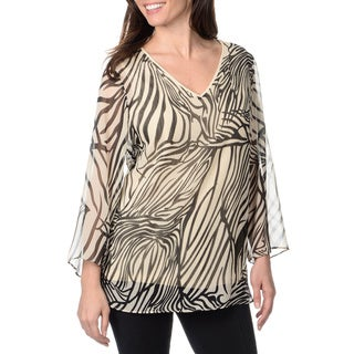 Chelsea and Theodore Women's Abstract Animal Print Top