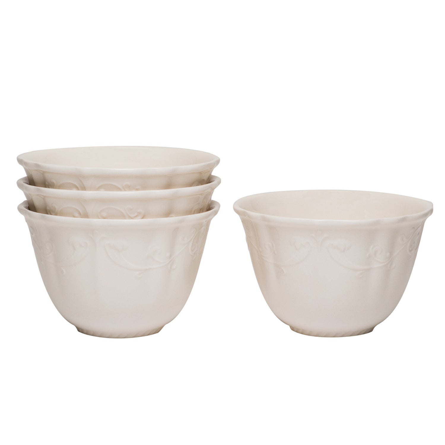 Red Vanilla Estate White Fruit/ Cereal Bowls (Set of 4) at Sears.com