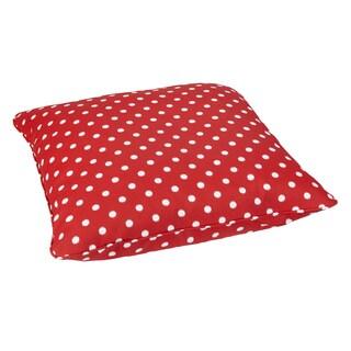 Red Dots Corded Outdoor/ Indoor Large 28-inch Floor Pillow
