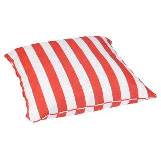 Striped Coral Corded Outdoor/ Indoor Large 28-inch Floor Pillow