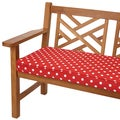 Red Dots 48-inch Indoor/ Outdoor Corded Bench Cushion