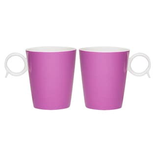 Red Vanilla Freshness Mix & Match 'Bandy' Violet 12-ounce Mugs (Set of 2)