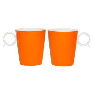 Red Vanilla Freshness 'Bandy' Orange 12-ounce Mugs (Set of 2)