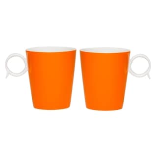 Red Vanilla Freshness 'Bandy' Orange 12-ounce Mugs (Set of 2)