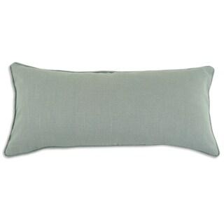Somette Circa Solid Aqua Marine Corded Decorative Throw Pillow