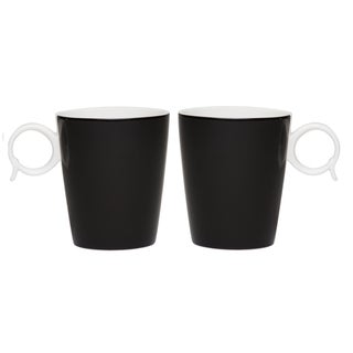 Red Vanilla Freshness 'Bandy' Black 12-ounce Mugs (Set of 2)