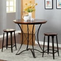 Furniture of America 'Doriante' 3-piece Round Metal Bar Table Set