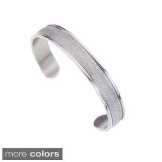 Stainless Steel Textured Cuff Bracelet