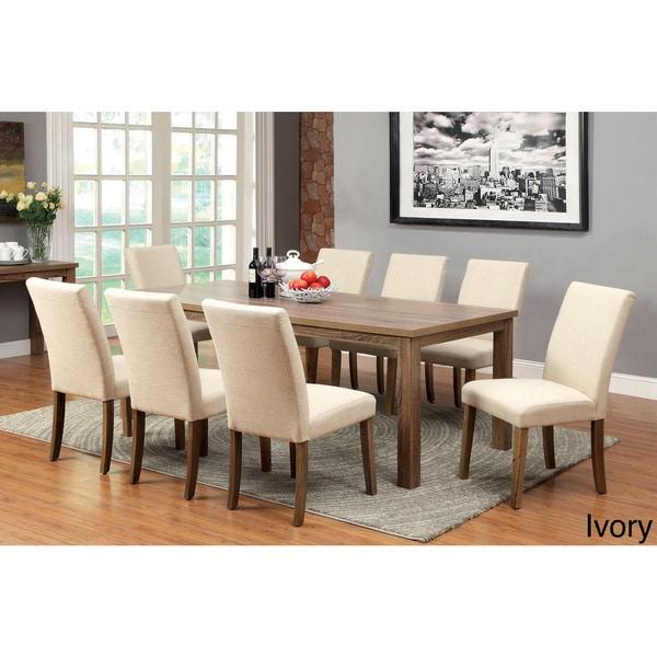 furniture of america sorine 9 piece light oak dining set overstock