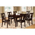 Furniture of America Briddle Geo Espresso 7-piece Rectangular Table Dining Set