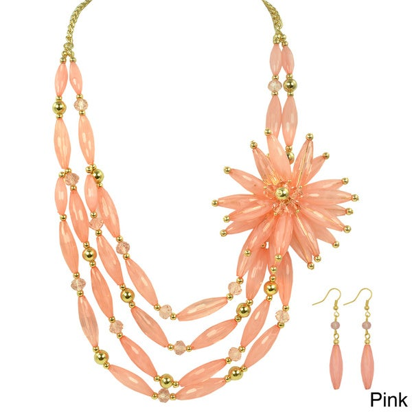 Kate Marie 'Melba' Fashion Necklace and Earrings Set
