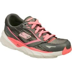 Girls' Skechers GOrun Ride 3 Gray/Pink