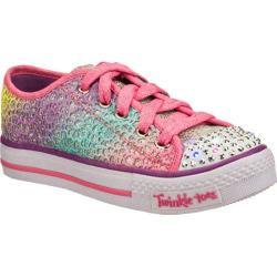 Girls' Skechers Twinkle Toes Shuffles Glitter Dayz Multi